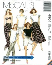 McCall's 4904 Dress Bandeau Top Skirt Pants Size 6 - 8