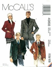 McCall's 4968 Unisex Jacket Bust 36 - 38