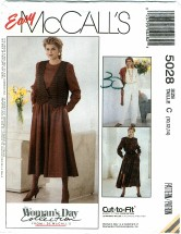 McCall's 5028 Misses Vest Jumpsuit Dress Size 10 - 14