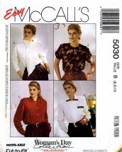 McCall's 5030 Sewing Pattern Misses Blouse Scarf Size 8 - 10 - 12 - Bust 31 1/2 - 34