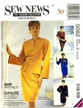 McCall's 5082 Pullover Dress Top Skirt Belts Size 8 - 12 - Bust 31 1/2 - 34