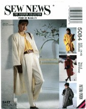 McCall's 5084 Lined Coat & Scarf Size 14 - 16