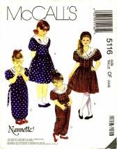 McCall's 5116 Dress Jumpsuit Headband Size 4 - 5 - 6