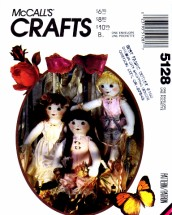 McCall's 5128 Ruffle Doll Lingerie Shoes Vintage Sewing Pattern