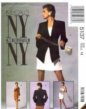 McCall's 5137 Sewing Pattern Misses Bolero Jacket Dress Size 14