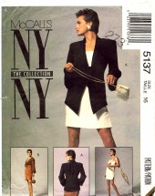 McCall's 5137 Sewing Pattern Misses Bolero Jacket Dress Size 16