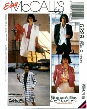 McCall's 5229 Coat or Jackets Size 10 - 14