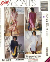 McCall's 5233 Sewing Pattern Chemise Dress Top Skirt  Size 8 - 12