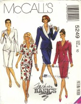 McCall's 5249 Two-Piece Dress Jacket Skirt Size 10