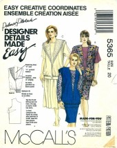 McCall's 5365 Misses Three-Piece Dresses Vest Top Skirt Size 20