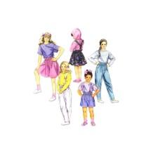 Girls Tops Skirt Pants Shorts Suspenders McCalls 5455 Vintage Sewing Pattern Size 4