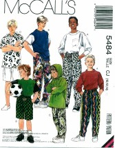 McCall's 5484 Boys Tops Pants Shorts Size 10 - 14