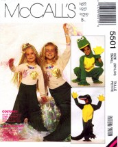 McCall's 5501 Sewing Pattern Costumes Alligator Frog Mermaid Bust / Chest 32 1/2 - 34