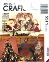 McCall's 5511 Crafts Sewing Pattern Country Home Christmas Package