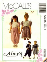 McCall's 5604 Dress Jumpsuit Sock Trim Size 3
