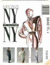 McCall's 5640 NY COLLECTION Misses Jumper Vest Blouse Pants Size 8