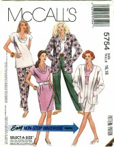 McCall's 5754 Jacket Tunic Top Skirt Pants Size 16 - 18