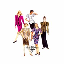 1990s Misses Jacket Skirt Two Piece Suit McCalls 5757 Vintage Sewing Pattern Size 8 - 10 - 12