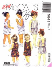 McCall's 5841 Tops Culotte Shorts Size 6