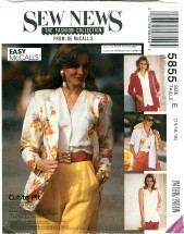 McCall's 5855 Cardigan & Blouse Size 14 - 18