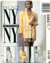 McCall's 5865 NY COLLECTION Jacket Skirt Pants Shorts Size 8