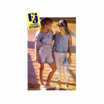 Girls Gitano Tops Pants Shorts McCalls 5900 Vintage Sewing Pattern Size 7 - 8 - 10