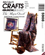 McCall's 5908 Magic Quilt Bag Pillow Crafts Sewing Pattern