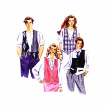 1990s Misses Mens Teen Boys Vests McCalls 5991 Vintage Sewing Pattern Bust / Chest 40 - 42