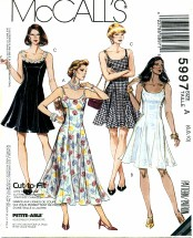 McCall's 5997 Slip Dress 3 Lengths Size 6 - 10