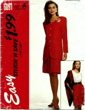 McCall's 6091 Jacket Top Skirt Size 6 - 12