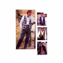 Womens Oversized Vest McCalls 6105 Sewing Pattern Size 10 - 12 Bust 32 1/2 - 34
