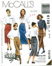McCall's 6139 Set of Skirts Size 6 - 10