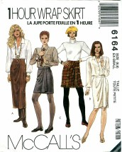 McCall's 6164 Misses Wrap Skirt in Three Lengths Size 6 - 8