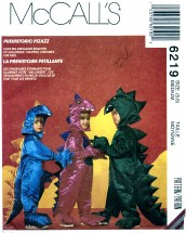 McCall's 6219 Dinosaurs Costumes Size 5 - 6