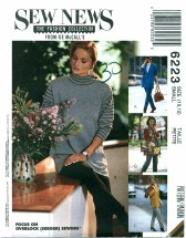 McCall's 6223 Stretch Knit Cardigan Vest Tunic Pants Size 10 - 12