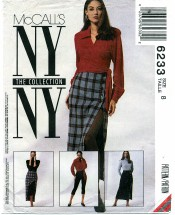 McCall's 6233 Sewing Pattern Misses Blouse Skirt Leggings Size 8