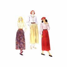 Misses Front Pleated Skirts McCalls 6241 Sewing Pattern Size 16 - 18 - 20