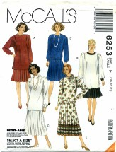 McCall's 6253 Two Piece Dresses Size 16 - 20
