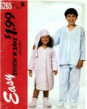 McCall's 6265 Pajamas Nightshirt Hat Bootees Size 8 - 10 Sewing Pattern