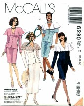 McCall's 6290 Misses Two-Piece Dresses Size 10 - 14