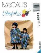 McCall's 6308 MOUSEFEATHERS Girls Dress Jumpsuit Headband Size 4
