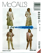 McCall's 6338 Jacket Top Skirt Pants Size 8 - 12