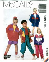 McCall's 6397 Jacket Pants Shorts Size 3