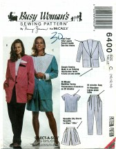 McCall's 6400 Jacket Top Pants Shorts Size 10 - 14 - Bust 32 1/2 - 36