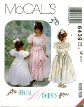 McCall's 6439 Dresses with Attached Petticoat Size 4