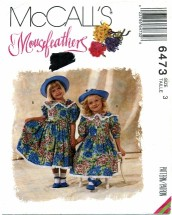 McCall's 6473 Puff Sleeve Dress Size 3