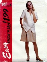 McCall's 6491 Top & Split Skirt Size 10 - 16