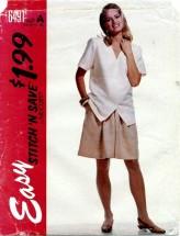 McCall's 6491 Top & Split Skirt Size 10 - 16