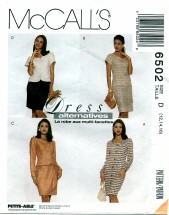 McCall's 6502 Dress Jacket Skirt Size 12 - 16