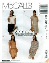 McCall's 6502 Dress Jacket Skirt Size 12 - 16